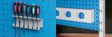 Zvětšit fotografii - Q-systém panel na stěnu QSP 02A 49,4x98,8x2 cm - RAL 3000 Kovos