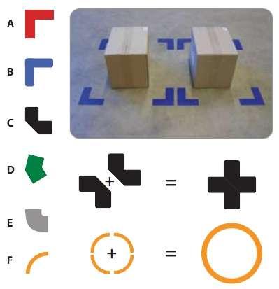 Zvětšit fotografii - DuraStripe podlahové značení 5S - rohy