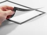 Zobrazit detail - Vývěsní fólie s magnetickým fixačním rámem šedá