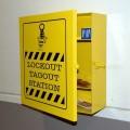 Lockout Station - Ocelová uzamykatelná pevná skříň