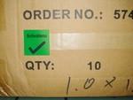 """Zvětšit fotografii - Kombinované papírové etikety pro zajištění kvality, v rolích - """"Zkontrolováno"""" + háček, zelená"""