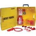 Zvětšit fotografii - Brady Přenosný uzamykatelný box na uzávěry - žlutý, Lockout Station