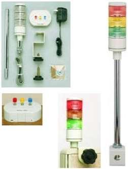 Zvětšit fotografii - Ručně ovládaná 3-barevná LED signální věž Patlite HSST - 312 Kit