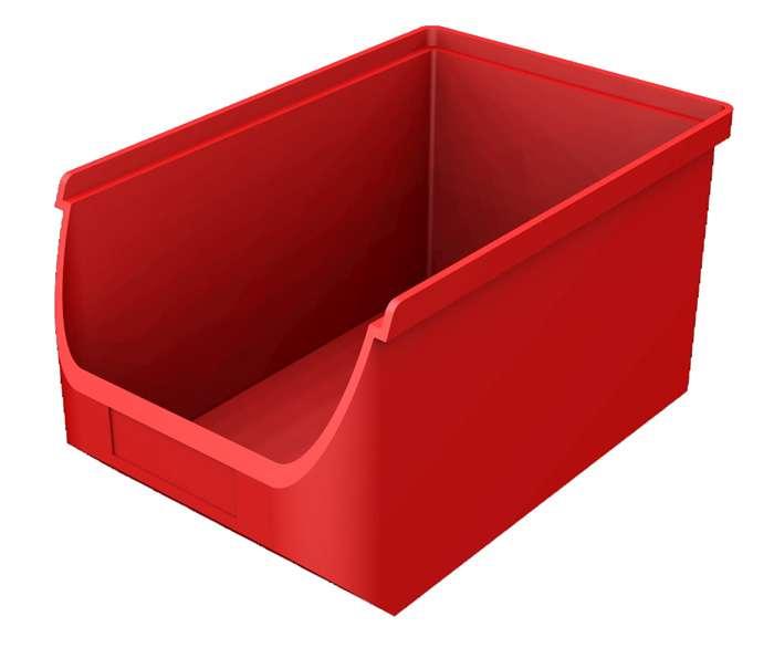 Zvětšit fotografii - Plastový zásobník červený