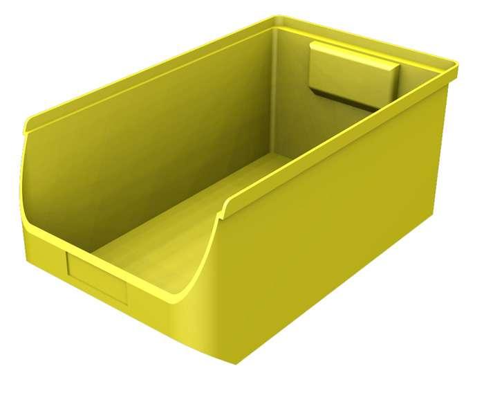 Zvětšit fotografii - Plastový zásobník žlutý