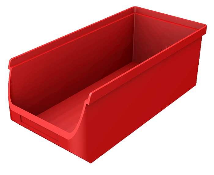 Zvětšit fotografii - Plastový zásobník červený B