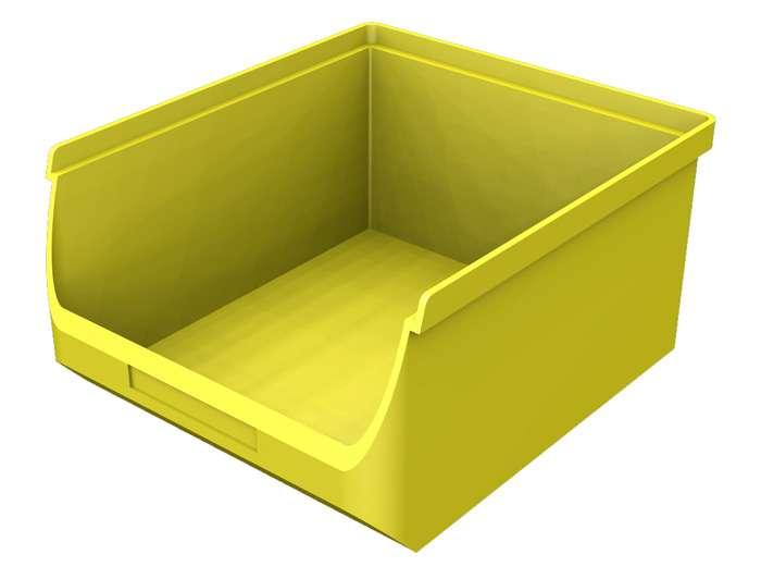 Zvětšit fotografii - Plastový zásobník žlutý B