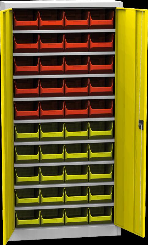 Zvětšit fotografii - Skříň s plastovými zásobníky 1950 x 950 x 400 mm