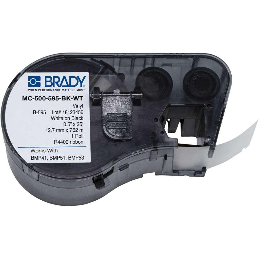 Zvětšit fotografii - Brady MC-500-595-BK-WT / 143383, samolepicí páska 12.70 mm x 7.62 m