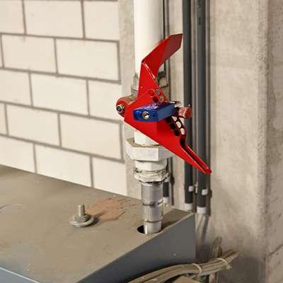 Zvětšit fotografii - Brady Uzávěr kulových ventilů Lockout - uzavírací páka 6-25 mm