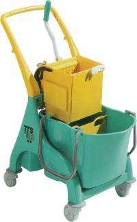 Zvětšit fotografii - TTS Úklidový vozík NICK O-KEY s přepážkou se ždímačem TTS TECNO TROLLEY SYSTEM