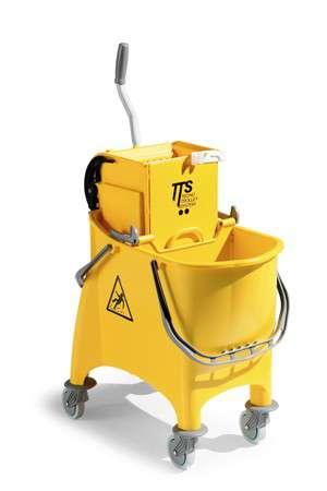 Zvětšit fotografii - TTS Úklidový vozík Witty s přepážkou se ždímačem TTS TECNO TROLLEY SYSTEM